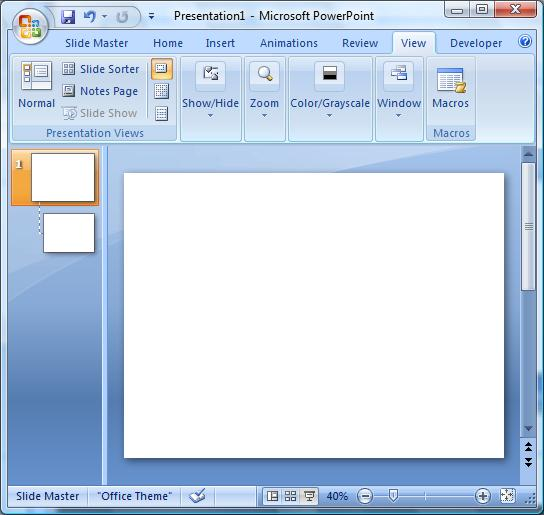 microsoft powerpoint output to from sideway