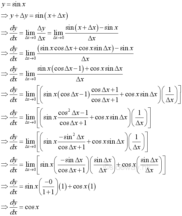 differentiation of trigonometric functions pdf